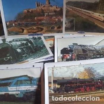 LAMINAS FOTOGRAFÍAS MAQUINAS TRENES (Postales - Postales Temáticas - Trenes y Tranvías)