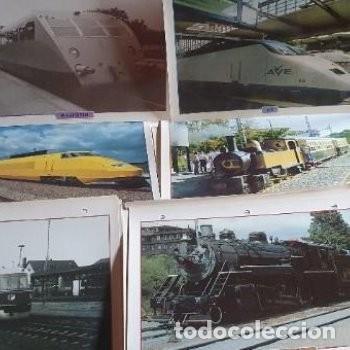 Postales: laminas fotografías maquinas trenes - Foto 2 - 211481329