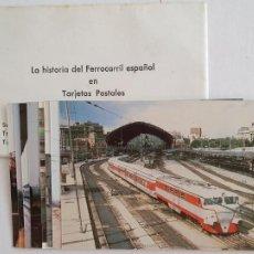 Postales: TRENES TALGO - SOBRE CON 8 POSTALES - HISTORIA DEL FERROCARRIL ESPAÑOL - FERR1 - PMX. Lote 211896712
