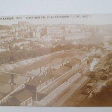 Postales: MANRESA - VISTA DE LA ESTACIÓN DEL FERROCARRIL DEL NORTE - OB - CAT5. Lote 212394761