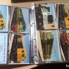 Postales: 1476 POSTALES MAYORÍA TRENES ALGUNAS FUNICULARES Y TRANVÍAS . VER FOTOGRAFÍAS DE TODA LA COLECCIÓN. Lote 213810402