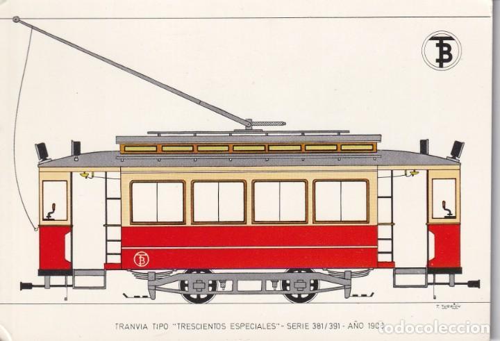 POSTAL TRANVIA DEL AÑO 1908 DE BARCELONA Nº 12 SIN CIRCULAR (Postales - Postales Temáticas - Trenes y Tranvías)