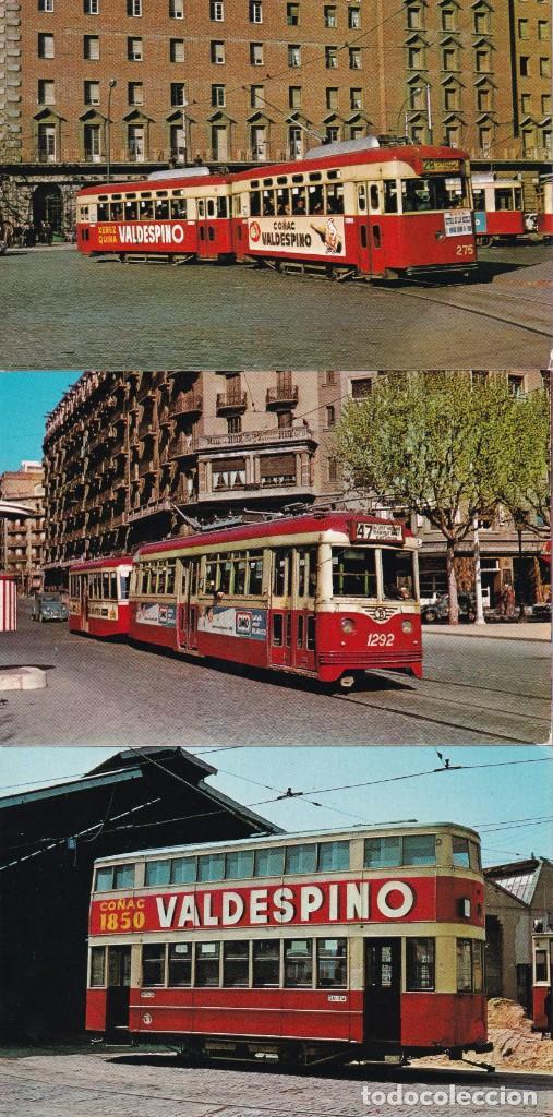 TRES TAMBIAS DE BARCELONA Nº 13 - 15 - 22 EDITO FERROVIARIES S. A. BARCELONA SIN CIRCULAR (Postales - Postales Temáticas - Trenes y Tranvías)