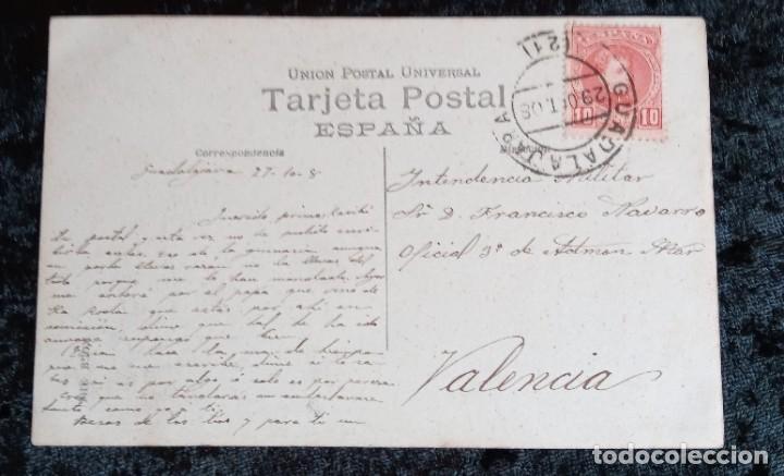 Postales: POSTAL FOTOGRÁFICA - TALLER ESTACION ATOCHA - MADRID - TRENES - CIRCULADA 1908 - Foto 2 - 214578356