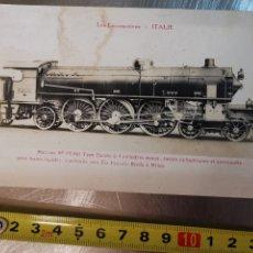 Postales: POSTAL LES LOCOMOTIVES, ITALIE. LOCOMOTORA TREN ITALIA Nº69001 F. FLEURY, PARÍS. Lote 214876550
