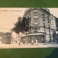 Postales: TRANVÍAS - ANTIGUA POSTAL 10 ASNIERES PLACE DES BOURGUIGNONS 14X9 CM.. Lote 215742755