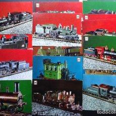 Postales: 16 POSTALES DE REPRODUCCIÓN DE LOCOMOTORAS-ASOCIACIÓN DE MODELISTAS FERROVIARIOS, VER COMENTARIOS. Lote 218277115