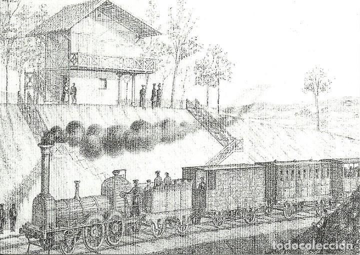 Postales: 18 postales variadas de ferrocarriles , locomotoras , estaciones , - Foto 10 - 219913526
