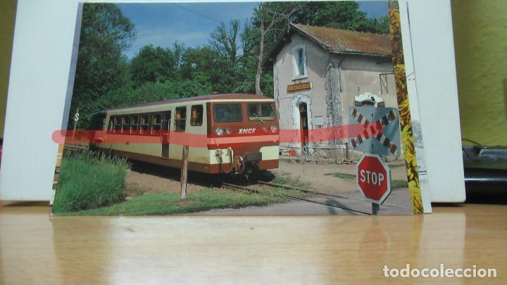 POSTAL FERROCARRIL FRANCIA VALENÇAI AUTORAIL BERNEY (Postales - Postales Temáticas - Trenes y Tranvías)