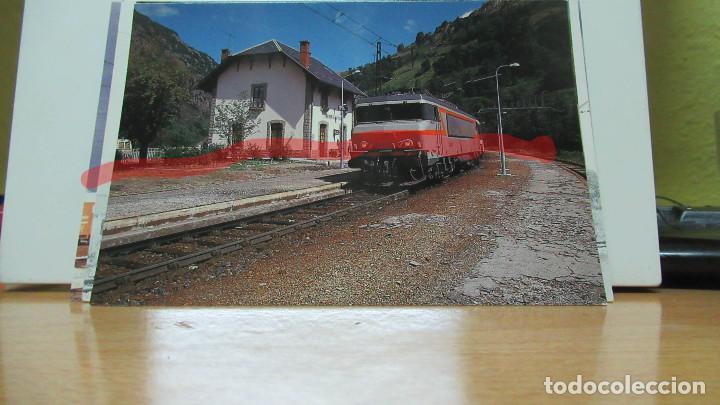 POSTAL FERROCARRIL FRANCIA MERENS LES VALS LIGNE TOULOUSE A LA TOUR DE CAROL (Postales - Postales Temáticas - Trenes y Tranvías)