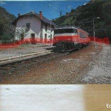 Postales: POSTAL FERROCARRIL FRANCIA MERENS LES VALS LIGNE TOULOUSE A LA TOUR DE CAROL. Lote 222092896
