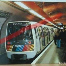 Postales: POSTAL FERROCARRIL FRANCIA PARIS LE METRO.. Lote 222093970