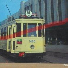 Postales: POSTAL FERROCARRIL BELGICA TRANVIA BRUSELAS.. Lote 222094042