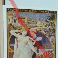 Postales: POSTAL FERROCARRIL CHEMINS DE FER DE MIDI Y ORLEANS SALIES DE BEARN. Lote 222095872