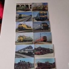 Postales: LOTE 14 POSTALES DE FERROCARRILES RENFE. Lote 222538835