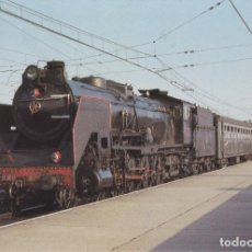 Postales: LOCOMOTORA DE VAPOR 2-4 2093 PONFERRADA 1969 - EUROFERS Nº532 - S/C. Lote 222833118