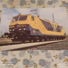 Postales: POSTAL RENFE, M5 LOCOMOTORA SERIE 250 (1983). Lote 227280345