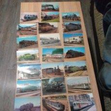 Postales: POSTALES DE LOCOMOTORAS Y TRENES. Lote 230536630