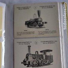 Postales: COLECCION DE 60 POSTALES DE LOCOMOTORAS VAPOR THE S.A. RAILWAYS MUSEUM, 12,6X10,2 BRILLO. Lote 230898700