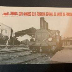 Postales: XXVII CONGRESO. AMIGOS DEL FERROCARRIL. 1989. Lote 233711940