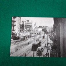 Postales: POSTAL Nº 4.217 BARCELONA C/ PELAYO AL FONDO. PLAÇA CATALUNYA LA IZQUIERDA ESTACION F.C. SARRIA 1908. Lote 234448205