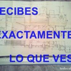 Postales: GRABADO LOCOMOTORA COMPAÑIA PLM TRENES FERROCARRILES 410X180 MM C7. Lote 241135815