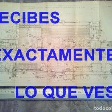 Postales: GRABADO LOCOMOTORA EXPRESS COMPAÑIA DEL NORTE TRENES FERROCARRILES 410X180 MM C7. Lote 241136005