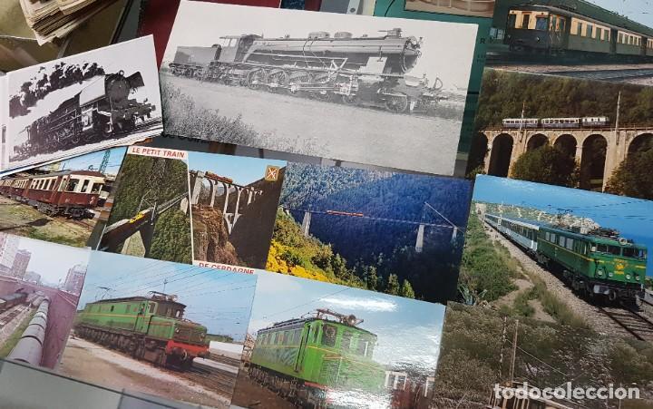 LOTE POSTALES Y FOTOS TRENES TREN FERROCARRIL TARRASSA BARCELONA (Postales - Postales Temáticas - Trenes y Tranvías)