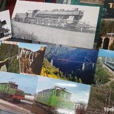 Postales: LOTE POSTALES Y FOTOS TRENES TREN FERROCARRIL TARRASSA BARCELONA. Lote 246493960
