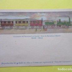 Postales: POSTAL FERROCARRIL CENTENARIO ESPAÑA 1848 - 1948 - SIN CIRCULAR. Lote 247294995