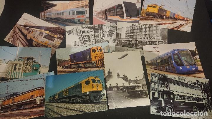 LOTE DE 24 POSTALES TEMA TENES Y TRANVIAS , PUEDE HABER REPETIDAS , LEER DESCRIPCION (Postales - Postales Temáticas - Trenes y Tranvías)
