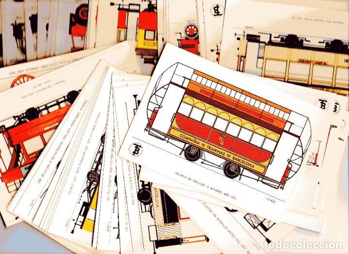 AD302 CENTENARIO DEL TRANVIA BARCELONA 1872-1972 COLECCIÓN DE 56 POSTALES ¡COMPLETA! (Postales - Postales Temáticas - Trenes y Tranvías)