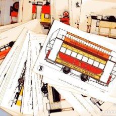 Postales: AD302 CENTENARIO DEL TRANVIA BARCELONA 1872-1972 COLECCIÓN DE 56 POSTALES ¡COMPLETA!. Lote 254465430