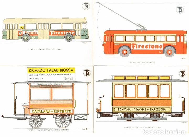 Postales: Ad302 CENTENARIO DEL TRANVIA BARCELONA 1872-1972 COLECCIÓN DE 56 POSTALES ¡COMPLETA! - Foto 5 - 254465430