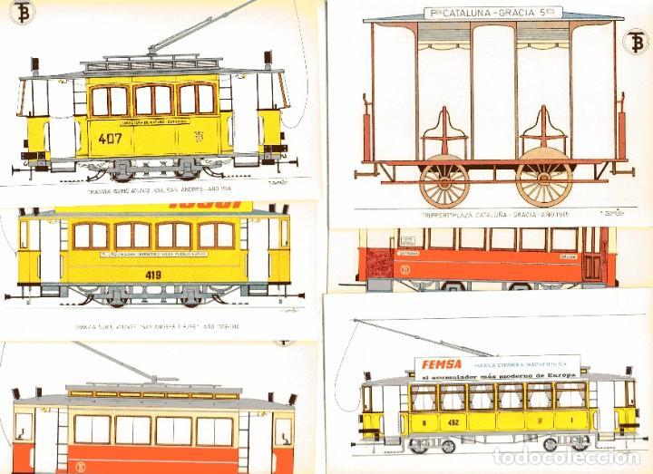 Postales: Ad302 CENTENARIO DEL TRANVIA BARCELONA 1872-1972 COLECCIÓN DE 56 POSTALES ¡COMPLETA! - Foto 7 - 254465430