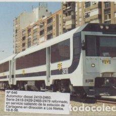 Postales: POSTAL DE TRENES Nº 646. AUTOMOTOR DIESEL 2410-2460. SERIE 2415-2429-2479 P-TREN-2063. Lote 254911840