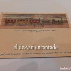 Postales: POSTAL CONMEMORATIVA CENTENARIO FERROCARRIL.. Lote 254945590