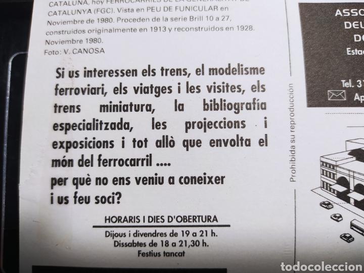 Postales: ASSOCIACIÓ DAMICS DEL FERROCARRIL DE BARCELONA. BERGAS INDUSTRIAS GRAFICAS 1981 - Foto 4 - 254945650