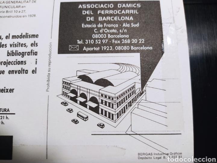 Postales: ASSOCIACIÓ DAMICS DEL FERROCARRIL DE BARCELONA. BERGAS INDUSTRIAS GRAFICAS 1981 - Foto 5 - 254945650