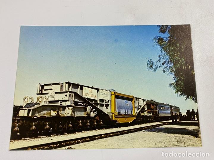TARJETA POSTAL. TRANSPORTE VAGÓN DE 20 EJES. COLECCIÓN RENFE. SERIE M-8 (Postales - Postales Temáticas - Trenes y Tranvías)