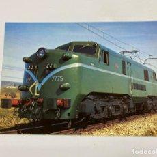 Postales: TARJETA POSTAL. LOCOMOTORA ELÉCTRICA SERIE 7700. COLECCION RENFE. SERIE TE-12. Lote 254983890