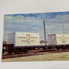 Postales: TARJETA POSTAL.CONTENEDOR TRANSPORTE REFRIGERADOS. COLECCION RENFE. SERIE M-12. Lote 254984005