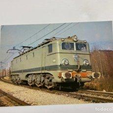 Postales: TARJETA POSTAL. LOCOMOTORA ELECTRICA SERIE 7600. COLECCION RENFE. SERIE TE-10. Lote 254985465