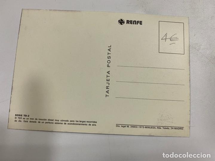 Postales: TARJETA POSTAL. EL TER. TREN DE TRACCION DIESEL. COLECCION RENFE.SERIE TD-2 - Foto 2 - 254986670