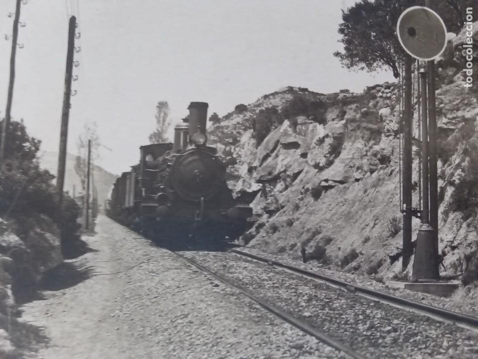 Postales: Via de tren con máquina de vapor. - Foto 2 - 255988590