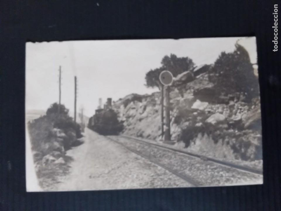 VIA DE TREN CON MÁQUINA DE VAPOR. (Postales - Postales Temáticas - Trenes y Tranvías)
