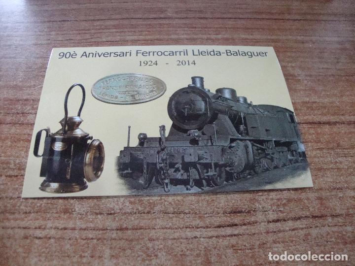 POSTAL 90 ANIVERSARI FERROCARRIL LLEIDA BALAGUER SIN CIRCULAR (Postales - Postales Temáticas - Trenes y Tranvías)