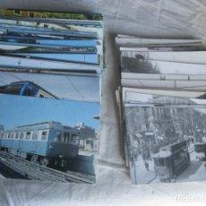 Postales: LOTE 130 POSTALES TRANVIAS 100 EN COLOR 30 BLANCO Y NEGRO. Lote 260376450