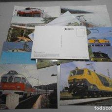 Postales: LOTE DE 16 POSTALES TRENES RENFE COLECCION SERIE M TODAS DIFERENTES SIN CIRCULAR. Lote 262738265