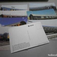 Postales: LOTE DE 8 POSTALES TRENES RENFE COLECCION SERIE R TODAS DIFERENTES SIN CIRCULAR. Lote 262738385